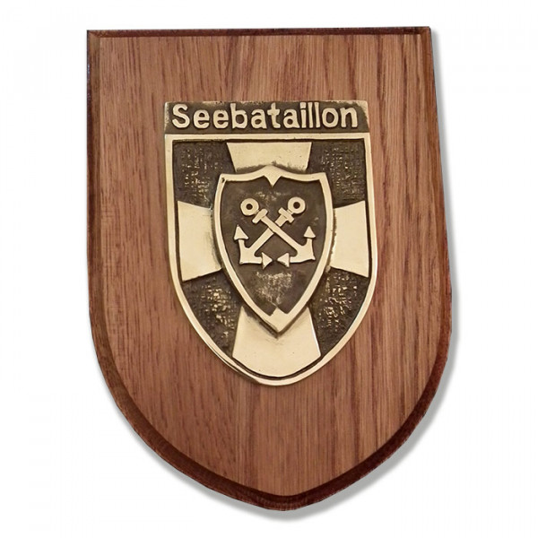 Messingwappen Seebataillon
