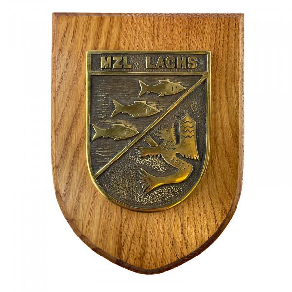 Messingwappen MZL Lachs